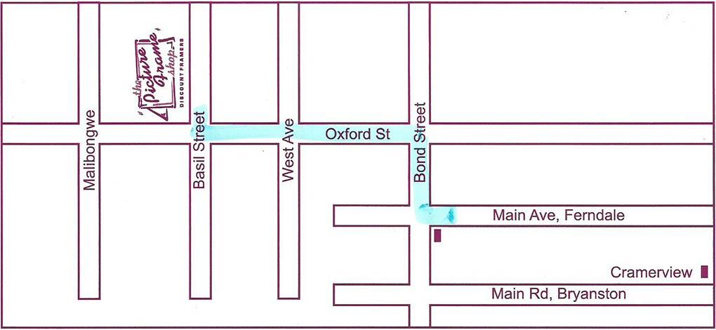 Picture Frame shop randburg new MAP